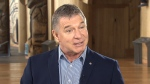 Rick Hansen speaks to CTV National News' Sandie Rinaldo in this undated image.