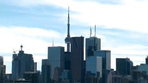 Toronto skyline, weather, cloudy