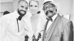 Celine Dion poses with Drake and his dad at the 2017 Billboard Music Awards. (Champagnepapi/Instagram)