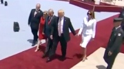 Extended: Melania appears to swat Trump's hand