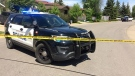 Edmonton Police Service investigating a collision in the area of 190 Street and 85 Avenue on Monday, May 22, 2017.