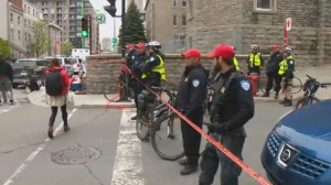 Police arrested protesters at a housing housing demonstration in Montreal.