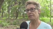 Gloria McGinn McTeer talks about why an apartment building should not be built on a unique piece of property.