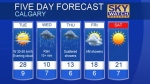 Calgary forecast May 22, 2017