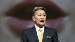 Sony Corp. Chief Executive Kazuo Hirai outlines its strategy at the company's headquarters in Tokyo on Tuesday, May 23, 2017. (AP / Eugene Hoshiko)