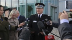 Greater Manchester Police Chief Constable Ian Hopkins speaks to the media in Manchester Tuesday May 23, 2017. (Peter Byrne / PA)