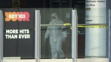 Forensic investigators at Manchester Arena