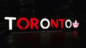 Toronto sign celebrates Canada's 150tth