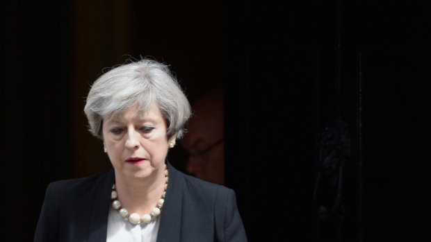 U.K. Prime Minister Theresa May in London