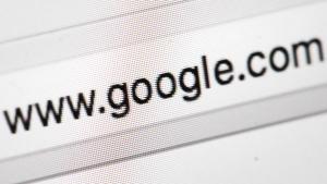 This photo shows Google's web address, in Philadelphia on April 26, 2017. (AP Photo/Matt Rourke)