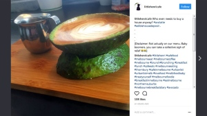 An avolatte from Little Henri Cafe in Thornbury, Australia (instagram.com/littlehenricafe)