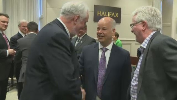Tory Leader Jamie Baillie appears at Halifax council on May 23, 2017.