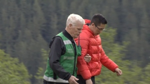 Hiker Jason Wong set out with friends to hike Lynn Peak on Victoria Day, but had to stop because of severe leg cramps. (CTV)