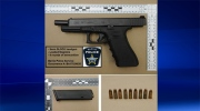A loaded 9 mm Glock handgun and ammunition Barrie police seized during investigation on Monday May 22,2017. (Courtesy: Barrie Police)