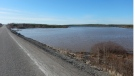The causeway where the victims launched their canoe (Source: RCMP)
