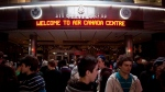 A crowd of people gathers inside the Air Canada Centre in Toronto Wednesday, December 1, 2010. Heightened security is planned for Toronto's Air Canada Centre after the suicide bombing at an Ariana Grande concert in Manchester, England. (THE CANADIAN PRESS/Darren Calabrese)