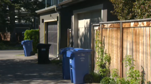 A five-year-old boy was riding his bike in the back alley near the 3000 block of Elbow Drive Southwest at about 10:00 a.m. when he was approached by a man who had been digging through garbage cans.