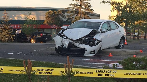 Pedestrian, Sunridge Mall, ped hit, crash, northea