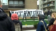 A group of Parkdale tenants say they are facing eviction after going on a rent strike at the beginning of the month.