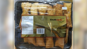 Canadian Food Inspection Agency says that Deliwok is recalling its Supreme brand of chicken egg rolls with the best before date of June 14, 2017.