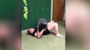 Disturbing video: Teens brawl in school hallway