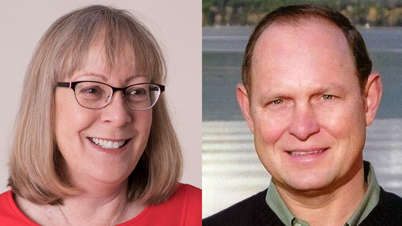 The race between NDP candidate Ronna-Rae Leonard and Liberal rival Jim Benninger in Courtenay-Comox is one of the closest of the 2017 B.C. election.