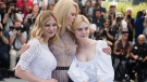From left, actresses Kirsten Dunst, Nicole Kidman and Elle Fanning pose for photographers during the photo call for the film The Beguiled at the 70th international film festival, Cannes, southern France, Wednesday, May 24, 2017. (Photo by Arthur Mola/Invision/AP)