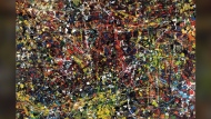 The Jean Paul Riopelle painting 'Vent du nord' is shown in a handout photo. (THE CANADIAN PRESS / HO-Heffel Auction)