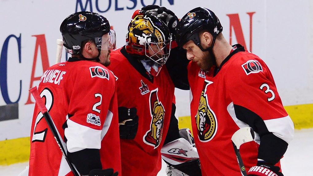 Ottawa Senators, Phaneuf, Anderson, Methot