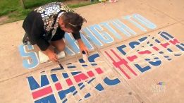 A local Toronto street artist wants to take his craft abroad in hopes of showing solidarity with Manchester. (CTV News Toronto)