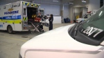 Paramedics in Waterloo Region load an ambulance. (CTV Kitchener)