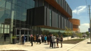 An exterior of Wilfrid Laurier University's Lazaridis Hall on May 24, 2017. (CTV Kitchener)