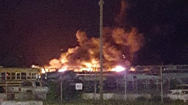 Firefighters battling 6 alarm blaze at Toronto recycling facility