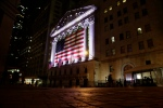 In this Friday, Feb. 17, 2017 file photo, an American flag hangs on the front of the New York Stock Exchange in New York. (AP / Peter Morgan