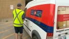 Mail carrier Corey Gallagher discovered the woman Tuesday morning in an apartment lobby on his route while delivering mail in St. Vital.