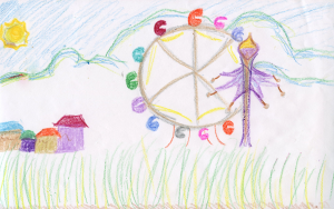 Weather art by Alissa, age 11, from Brookside Elementary.