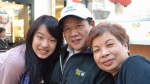 Amy Chang is seen with her parents, winery owners John Chang and Allison Lu, in a family photo. (Submitted)