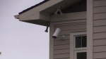 Surveillance cameras at a women's shelter in Barrie. (CTV Barrie)