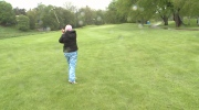 A golfer hits an approach shot at the 25th Betty Thompson Golf Classic. (CTV Kitchener)