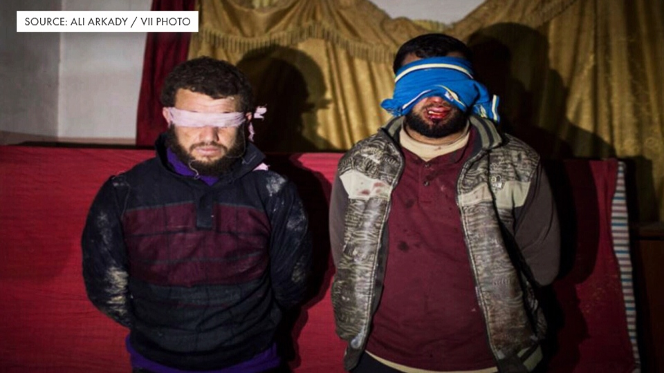 An image of alleged torture by Iraq's Emergency Response Division (Ali Arkady / VII Photo)