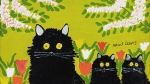 "A photograph of Maud Lewis' ""Three Black Cats"" (Consignor Canadian Fine Art / Instagram)"