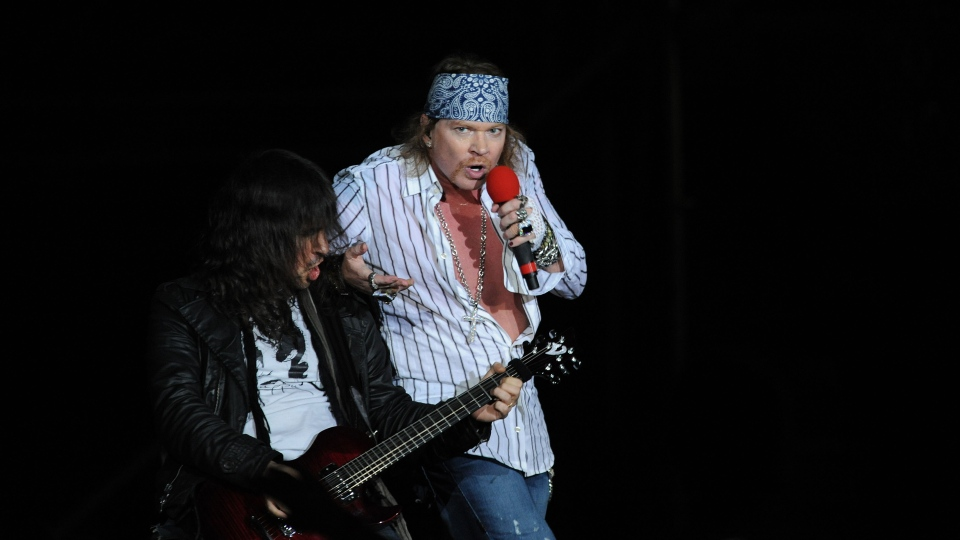 Guns N' Roses -- which starts a European leg in Ireland on Saturday after hitting the Americas and Asia -- announced an additional 15 shows to already scheduled dates in the United States and Canada this year. (AFP / Miguel Rojo Rojo)