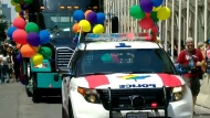 A police cruiser is shown at Toronto's pride parade in this undated photo.