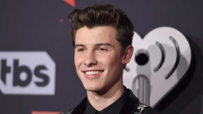 FILE - In this March 5, 2017, file photo, Shawn Mendes arrives at the iHeartRadio Music Awards at the Forum in Inglewood, Calif. (Photo by Jordan Strauss/Invision/AP, File)