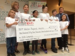 W.E. Care for Kids Foundation presents a cheque for $154,902.08 to the Windsor Regional Hospital Foundation on Friday, May 26, 2017. (Michelle Maluske / CTV Windsor)