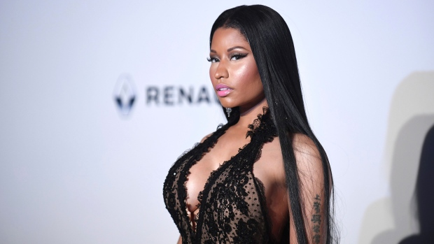 Singer Nicki Minaj poses for photographers upon arrival at the amfAR charity gala during the Cannes 70th international film festival, Cap d'Antibes, southern France, Thursday, May 25, 2017. (Photo by Arthur Mola / Invision / AP)