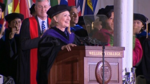 Hillary Clinton delivers commencement address