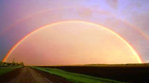 Finally captured a double, full rainbow. Photo by Kathy Stewart.