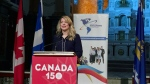 Federal Heritage Minister Melanie Joly announces funding for St. Jean Baptiste parties across Canada (CTV Montreal/Maya Johnson)