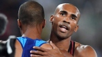 Canada's Damian Warner, right, celebrates his bronze medal with gold medal winner, United States' Ashton Eaton following the men's decathlon at the 2016 Summer Olympics in Rio de Janeiro, Brazil on Thursday, August 18, 2016. (Frank Gunn / THE CANADIAN PRESS)
